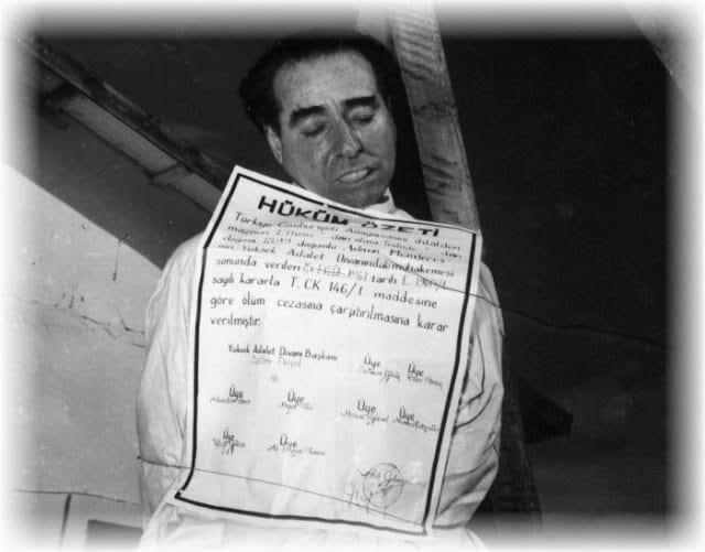 Αντνάν Μεντερές: Υποκίνησε τα Σεπτεμβριανά και απαγχονίστηκε