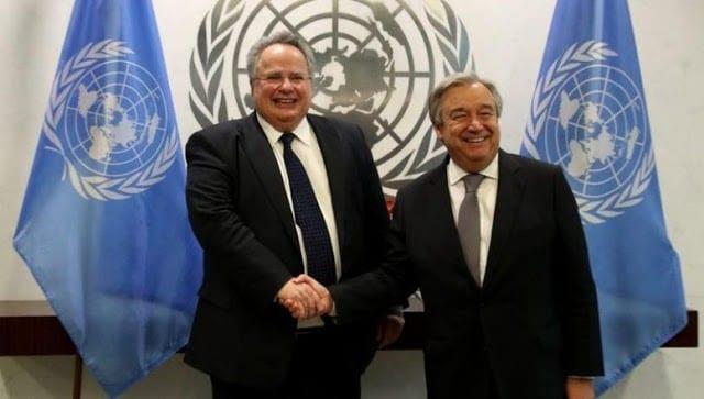 Κοτζιάς - Γκουτέρες συζήτησαν για Κυπριακό και Σκοπιανό