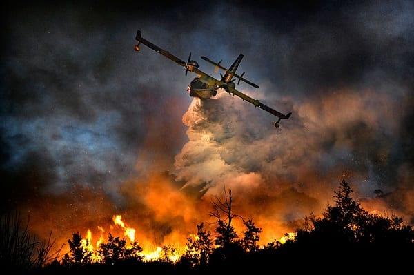 Εύβοια φωτιά 2019 Πυροσβεστικά Αεροσκάφη με χρηματοδότηση από την Ευρώπη #RescEU