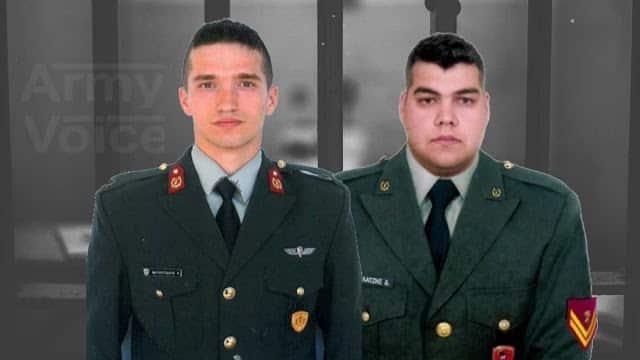 2 Έλληνες στρατιωτικοί