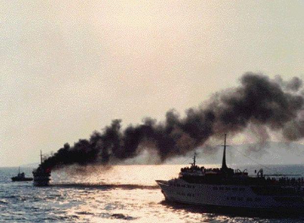 Το φλεγόμενο City of Poros, 11 Ιουλίου