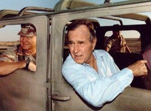 Τζορτζ Μπους, Σαουδική Αραβία, 8 Αυγούστου