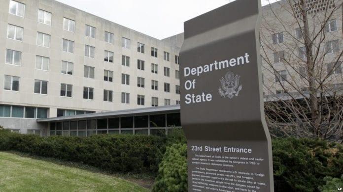 Στέιτ Ντιπάρτμεντ: Η Τουρκία να σταματήσει τις γεωτρήσεις στην Κύπρο ΑΟΖ Στέιτ Ντιπάρτμεντ: Παίρνει θέση για την ΑΟΖ των νησιών Στέιτ Ντιπάρτμεντ για Πομπέο και αμυντική συμφωνία Ελλάδας-ΗΠΑ Ταξιδιωτική Οδηγία ΗΠΑ για Τουρκία: Κίνδυνος για συλλήψεις Αμερικανών Σφαλιάρα ΗΠΑ σε Τουρκία: Πρόκληση οι γεωτρήσεις στην Κυπριακή ΑΟΖ Το Στέιτ Ντιπάρτμεντ S-400 ΗΠΑ Τουρκία