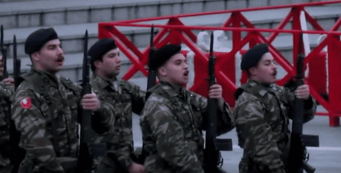 έπαρση σημαίας 9η Ταξιαρχία Πεζικού Κοζάνη
