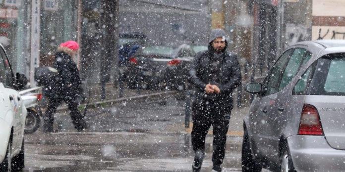 Καιρός χιόνια Μηχανιώνα Θεσσαλονίκη