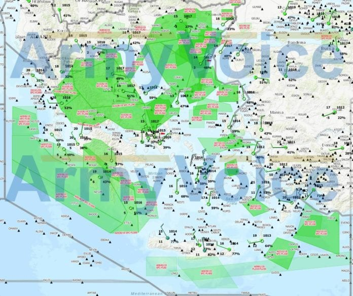 Ηνίοχος2019: Πού πετάνε μαχητικά σήμερα - Χάρτης #iniohos2019