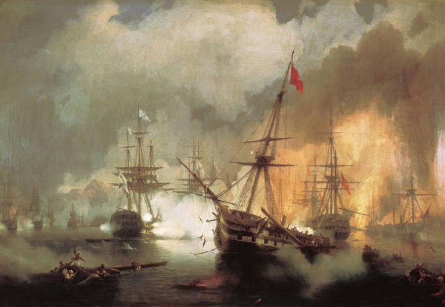30 Απριλίου 1825: Ναυμαχία της Μεθώνης - Δόξα του Ανδρέα Μιαούλη