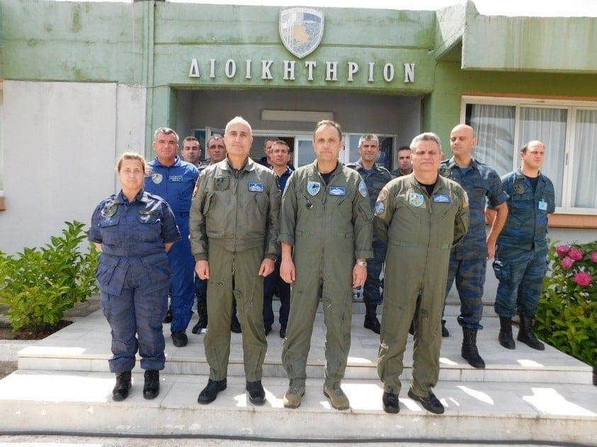 Ο Αρχηγός ΑΤΑ στην 130 Σμηναρχία Μάχης και την 8η ΜΣΕΠ στη Λήμνο