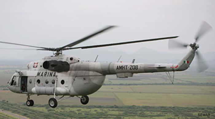 Πτώση ελικοπτέρου MI-17 του Πολεμικού Ναυτικού στο Μεξικό