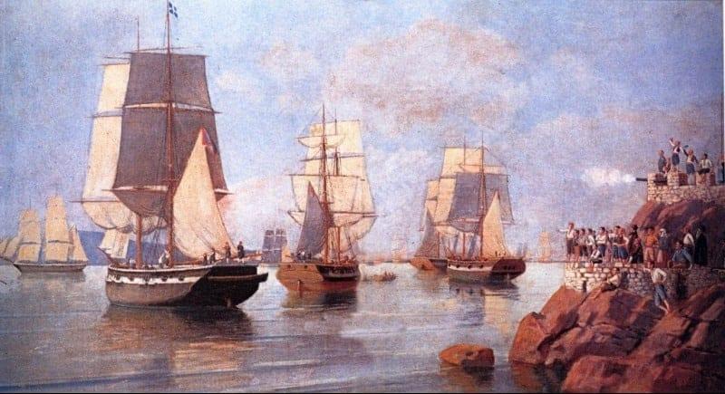 1η Αυγούστου 1831: Ο Ανδρέας Μιαούλης πυρπολεί τη φρεγάτα «Ελλάς»