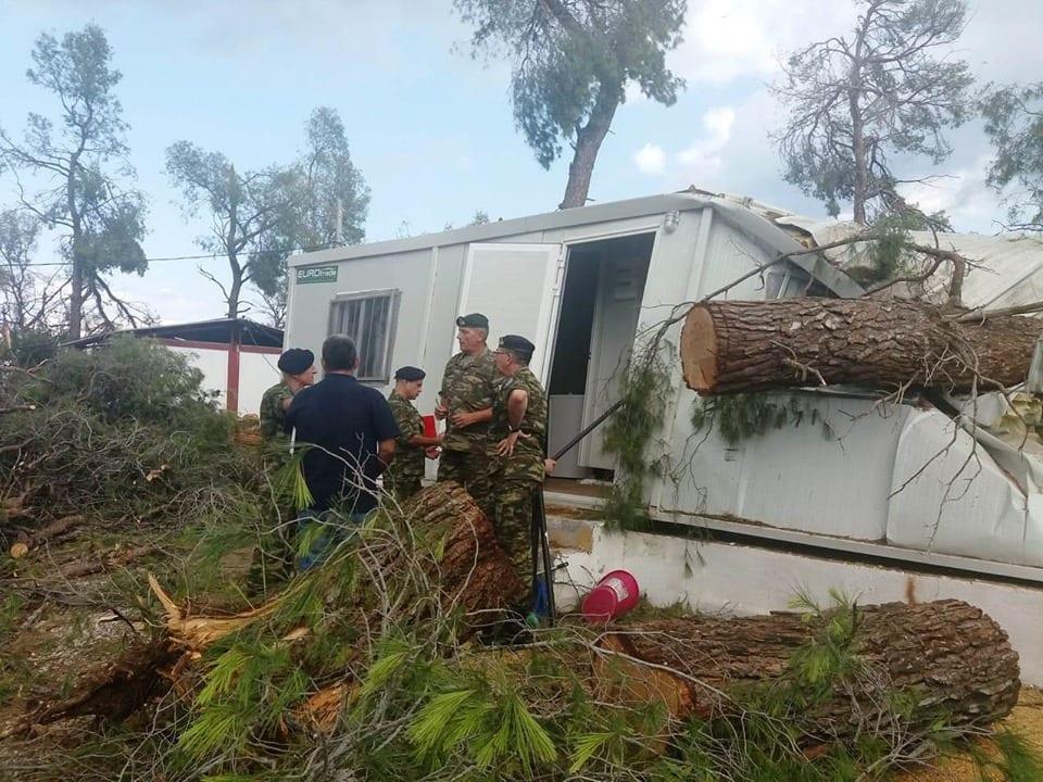 ΚΑΑΥ Ν. Φώκαιας: Ο αντιστράτηγος Φλώρος στην αποκατάσταση ζημιών