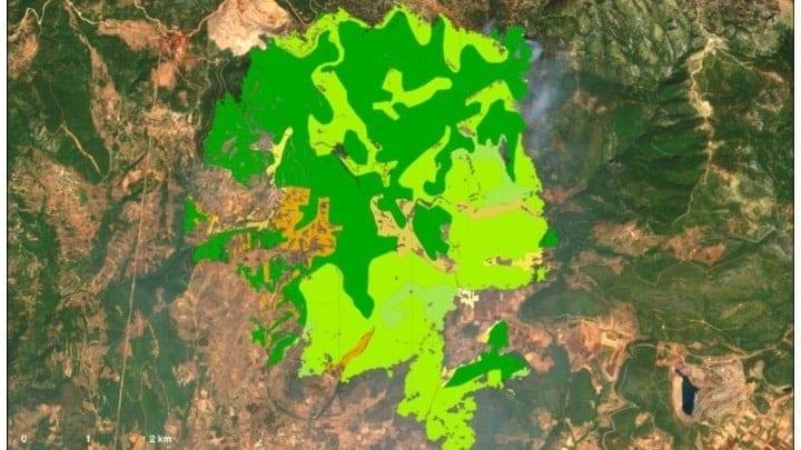 Τι κάηκε στην Εύβοια- Αποκλειστικός ΧΑΡΤΗΣ με τις χρήσεις γης