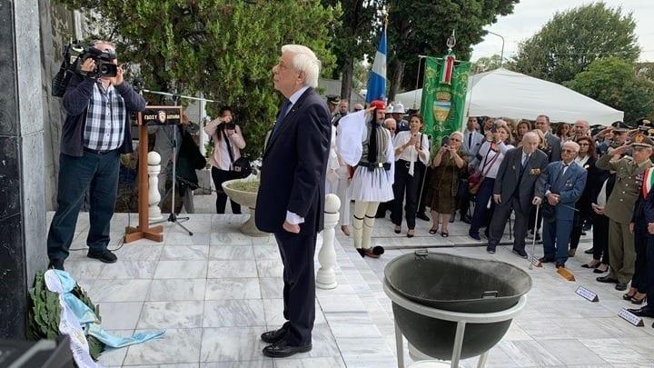 Παυλόπουλος: Τίμησε τους Έλληνες πεσόντες στη μάχη του Ρίμινι