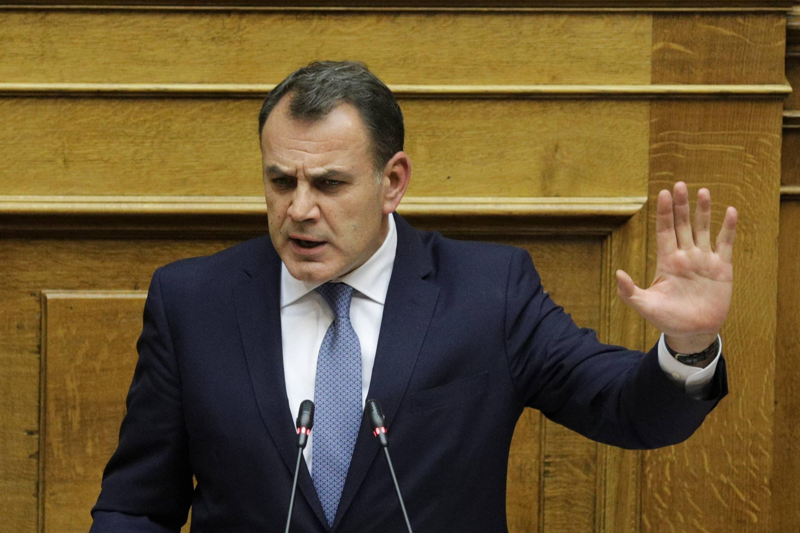 Στόλος Κρήτης: Τι είπε ο ΥΕΘΑ για το Ναύσταθμο Σούδας Καυγάς ΥΕΘΑ - ΣΥΡΙΖΑ για τη NAVTEX του Λιμενικού στο Καστελόριζο Νυχτερινή αποζημίωση Παναγιωτόπουλος: Η Ελλάδα δεν θα εμπλακεί στρατιωτικά στη Λιβύη δηλώνει ο υπουργός Εθνικής Άμυνας παρά τις δηλώσεις του ΥΠΕΞ Νίκου Δένδια Παναγιωτόπουλος: Το ΥΠΕΘΑ θα υπερασπίζεται την εσωτερική ασφάλεια