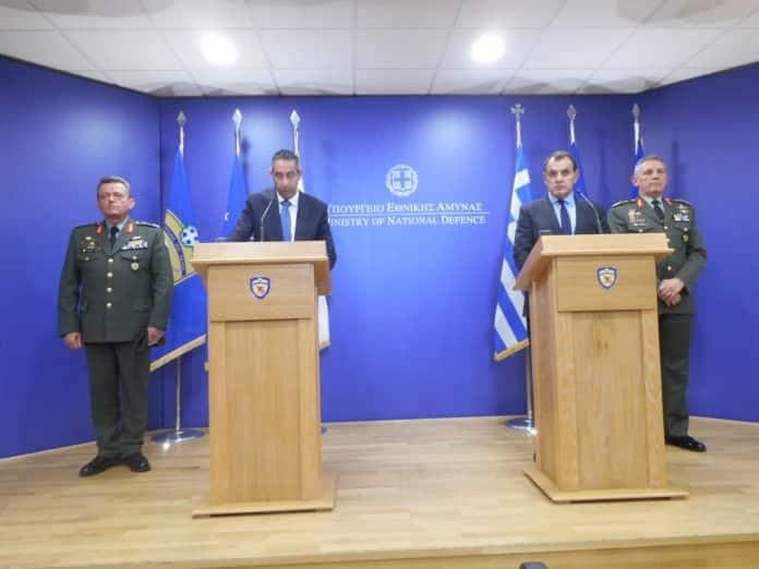 ΥΠΑΜ Ελλάδας Κύπρου σχεδίασαν την επόμενη μέρα στην ανατολική Μεσόγειο στο πλαίσιο του 6ου διακυβερνητικού συμβουλίου άμυνας