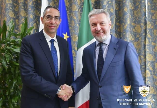 Σάββας Αγγελίδης: Κατήγγειλε την Τουρκική προκλητικότητα στην Ιταλία, στη συνάντηση με τον ομόλογό του υπουργό άμυνας Lorenzo Guerini