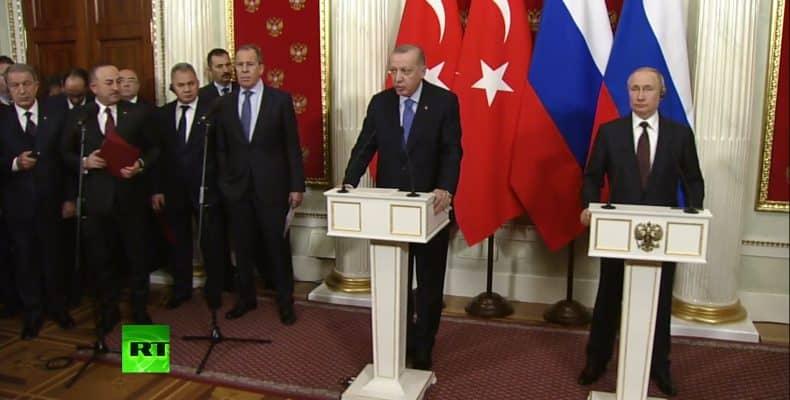 Κατάπαυση πυρός στο Ιντλίμπ, με συμφωνία Πούτιν και Ερντογάν