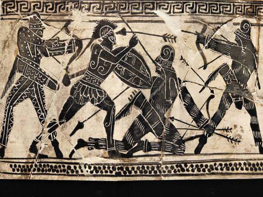 Το Πεζικό στην αρχαία Αθήνα & η πρώτη πολεμική ιαχή