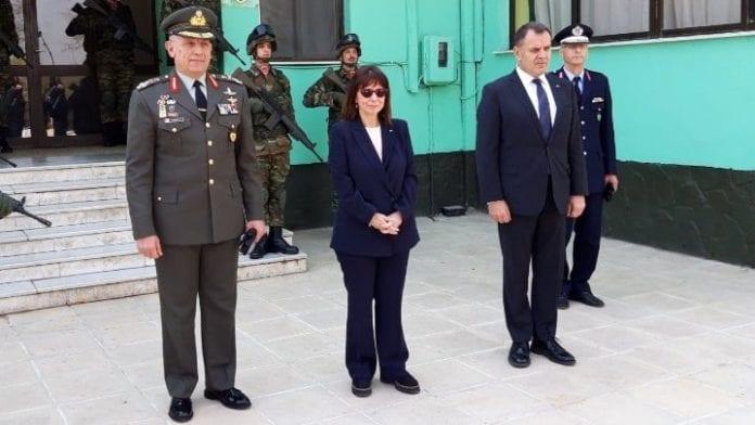 Η Πρόεδρος της Δημοκρατίας στο φυλάκιο 1 Καστανιές Έβρου