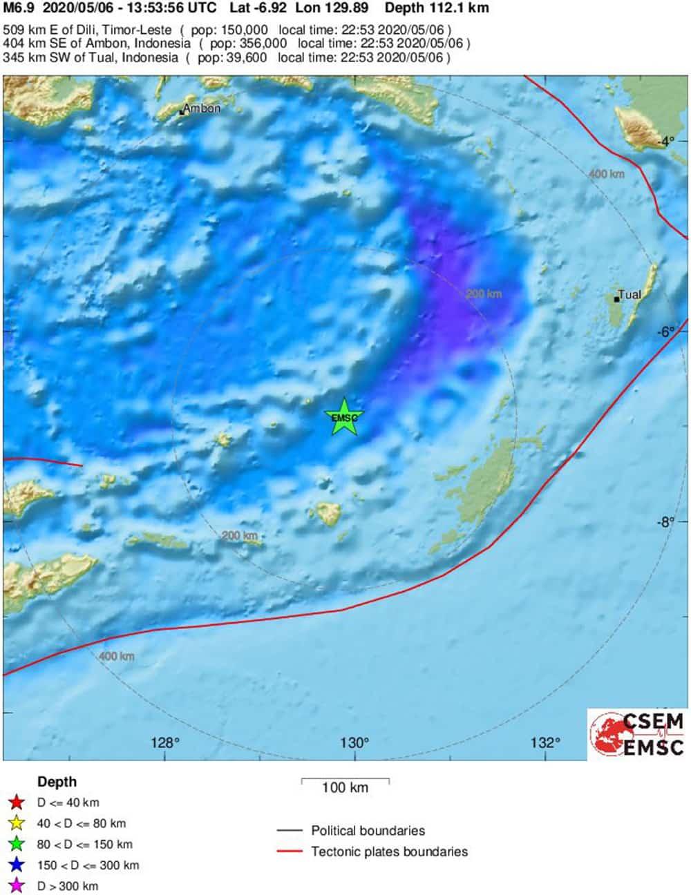 Σεισμός 6,9 Ρίχτερ στην Ινδονησία