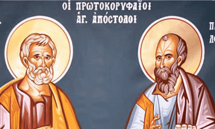 των αποστόλων Εορτολόγιο 29 Ιουλίου «Πέτρου και Παύλου» Ποιοι γιορτάζουν σήμερα