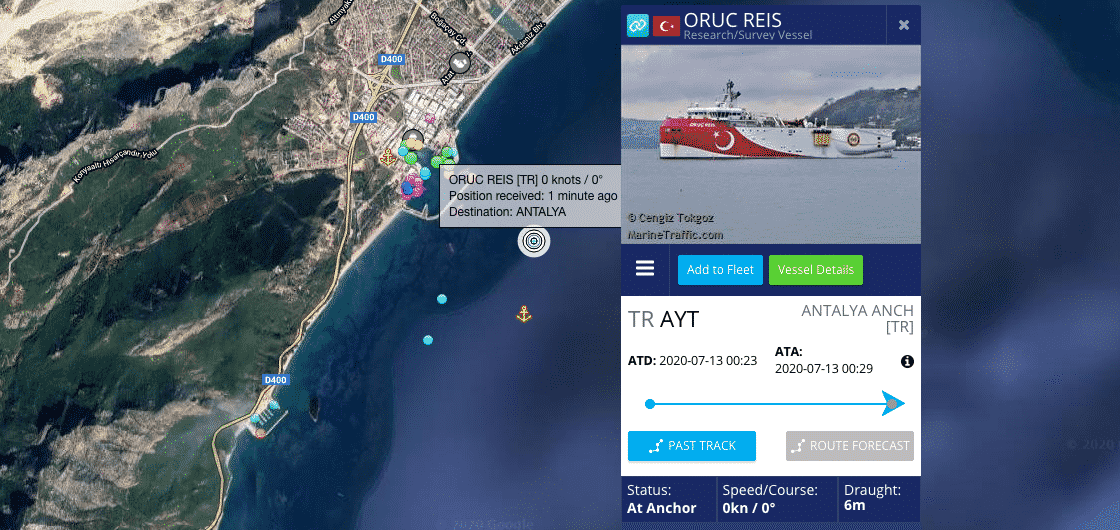 Oruc Reis: Πού βρίσκεται ΤΩΡΑ - Σε ετοιμότητα ο ελληνικός στόλος - Αποφασισμένο να μην επιτρέψει παραβίαση το Πολεμικό Ναυτικό - Τι συμβαίνει στο Καστελόριζο