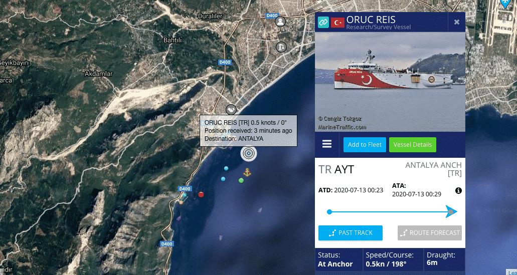 Πηγές ΓΕΕΘΑ: Ο στόλος σε επαγρύπιση Σε ισχύ η NAVTEX για το Oruc Reis
