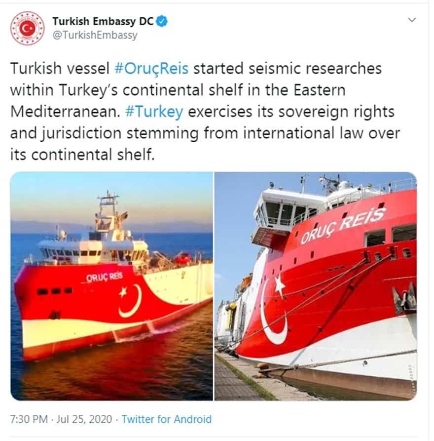 Oruc Reis: Πού βρίσκεται ΤΩΡΑ - Η Τουρκία μάζεψε τα fake news