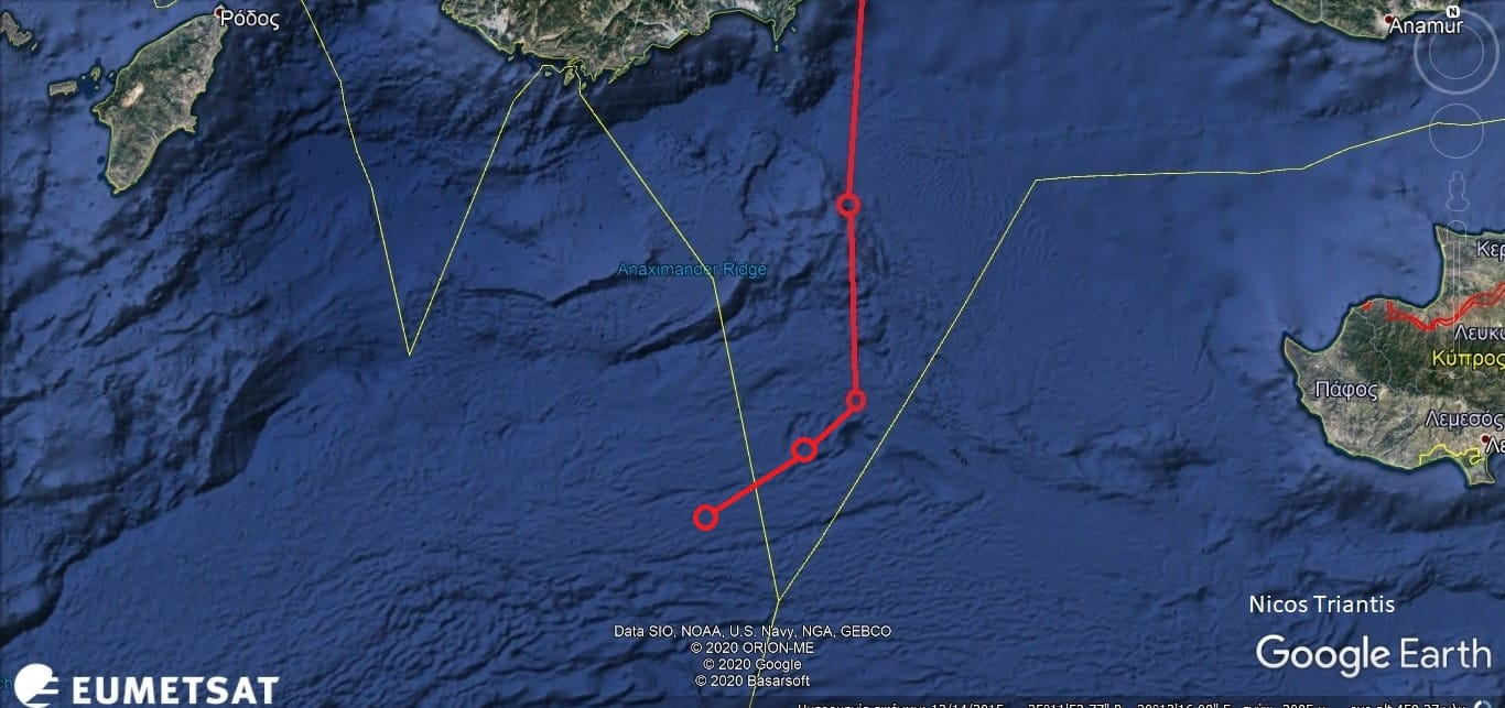 Oruc Reis: Μπήκε στην ελληνική υφαλοκρηπίδα; Ελλάδα - Τουρκία