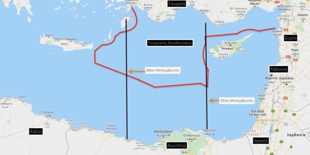 Ελλάδα Αίγυπτος: Η ΑΟΖ και οι ΧΑΡΤΕΣ που κόβουν Ρόδο - Καστελόριζο