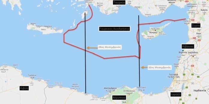 Χάγη: ΑΟΖ Πώς οι τουρκικοί χάρτες δημιουργούν τετελεσμένο