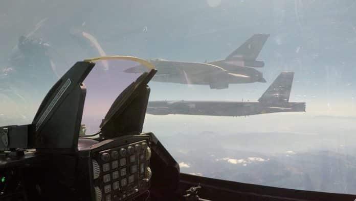 ΓΕΕΘΑ: αναχαιτίσαμε τουρκικά F-16 που συνόδευαν παράνομα το B-52