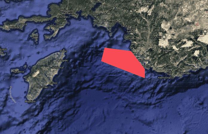 Τουρκική NAVTEX για άσκηση ανάμεσα Ρόδο - Καστελόριζο