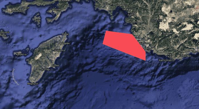 Νέα τουρκική NAVTEX για πραγματικά πυρά ανάμεσα Ρόδο και Καστελόριζο