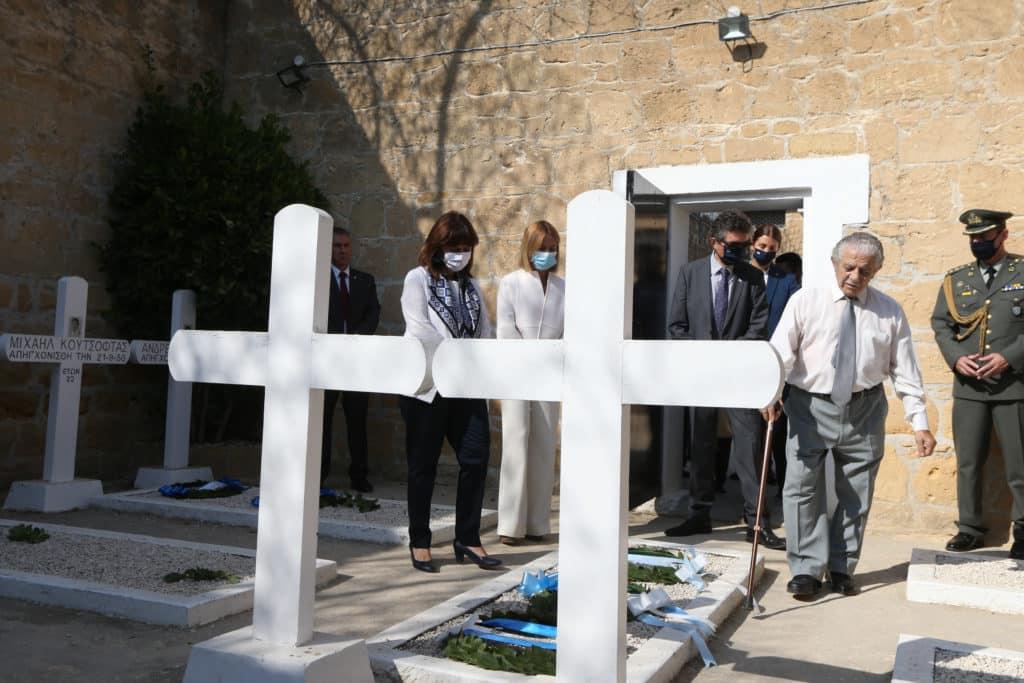 Κύπρος: Η Πρόεδρος της Δημοκρατίας είδε διχασμό, όχι Κατοχή